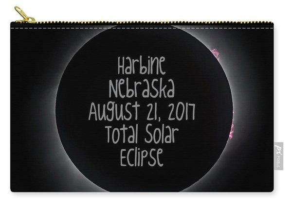 Harbine Nebraska Total Solar Eclipse August 21 2017 Carry-all Pouch
