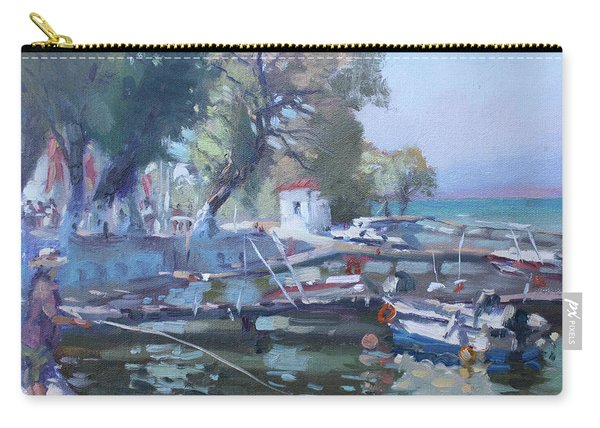 Harbor At Dilesi Greece Carry-all Pouch