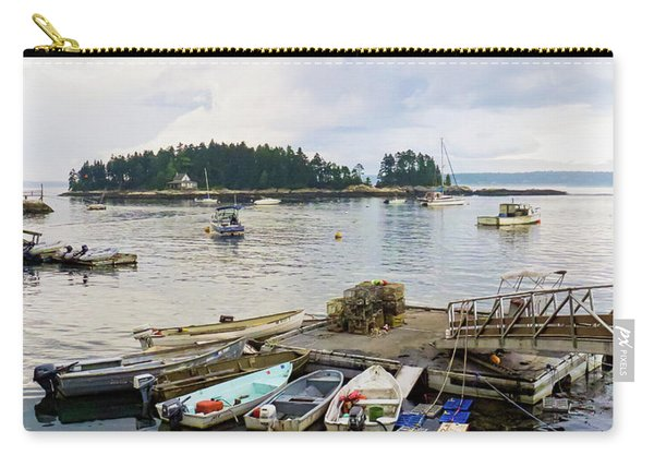 Harbor At Georgetown Five Islands, Georgetown, Maine #60550 Carry-all Pouch