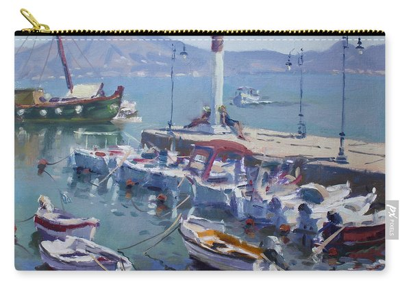 Harbor At Oropos Athens Carry-all Pouch