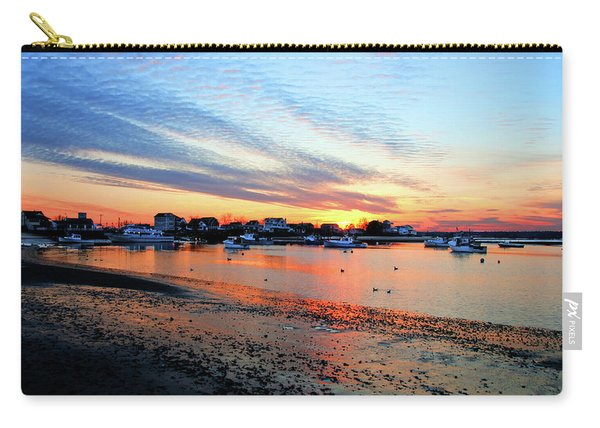 Harbor Sunset At Low Tide Carry-all Pouch