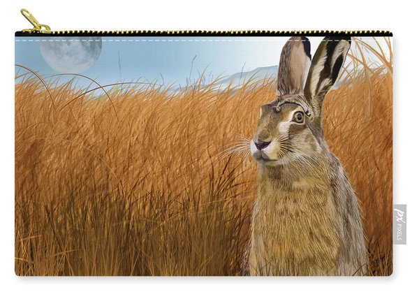 Hare In Grasslands Carry-all Pouch