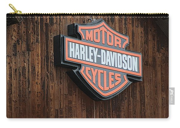 Harley Davidson Sign In West Jordan Utah Photograph Carry-all Pouch