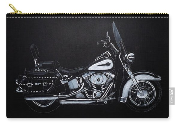 Carry-all Pouch featuring the painting Harley Davidson Snap-on by Richard Le Page