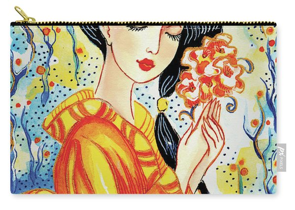 Harmony Flower Carry-all Pouch