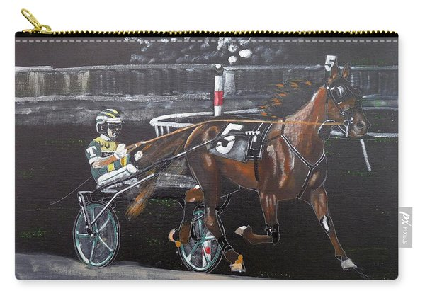 Carry-all Pouch featuring the painting Harness Racing by Richard Le Page