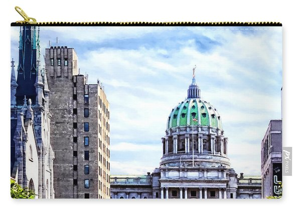 Harrisburg Pa - Capitol Building Seen From State Street Carry-all Pouch