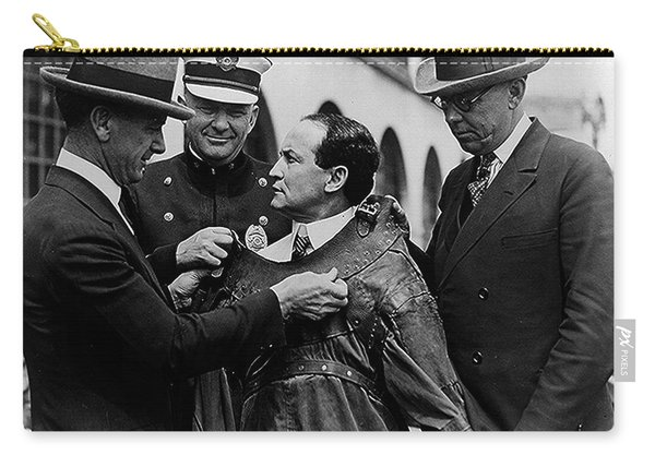 Harry Houdini Being Fitted Into A Straitjacket Carry-all Pouch