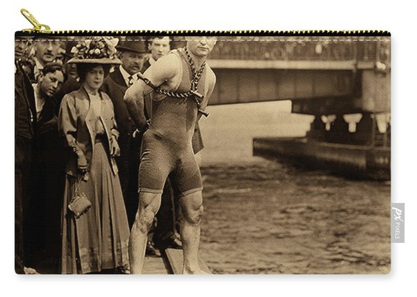 Harry Houdini In Chains, New York Harbor Carry-all Pouch
