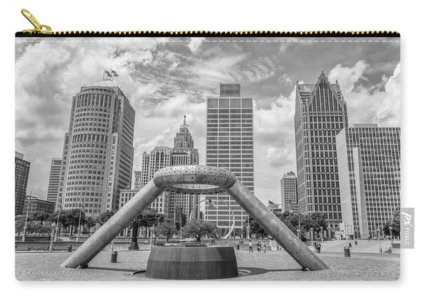 Hart Plaza In Detroit  Carry-all Pouch