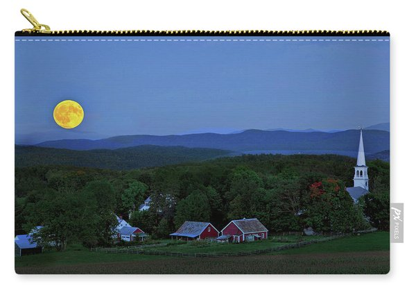 Harvest Moon Over Peacham Vermont Carry-all Pouch