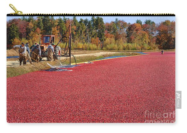 Harvesting Cranberries Carry-all Pouch