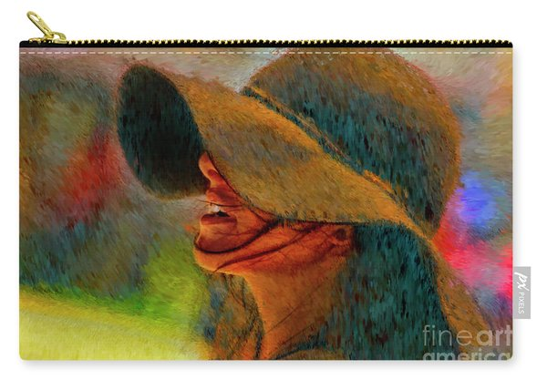 Hat And Ashley Bourne  Carry-all Pouch