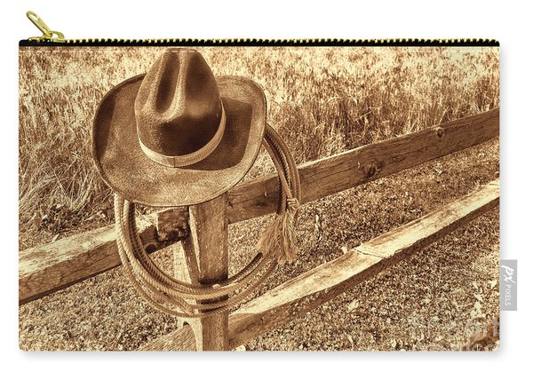 Hat And Lariat Carry-all Pouch