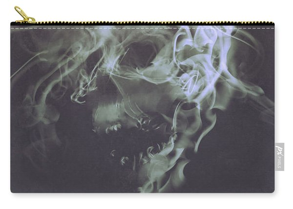 Carry-all Pouch featuring the painting Haunted Smoke  by Tithi Luadthong