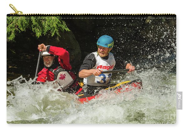 Having Fun In Whitewater Carry-all Pouch
