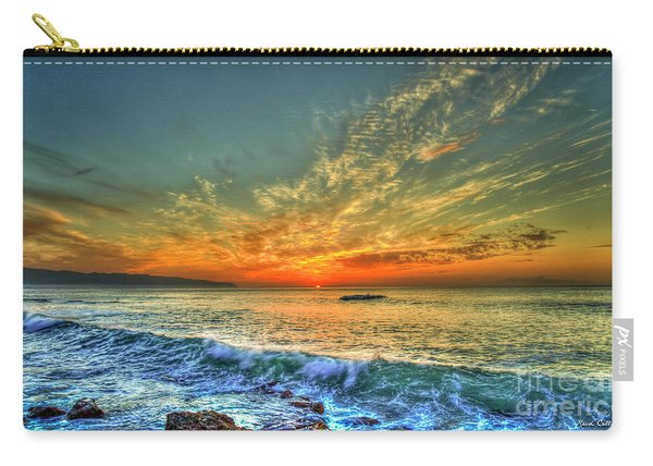 Hawaii Five O Sunset North Shore Oahu Hawaii Collection Art Carry-all Pouch