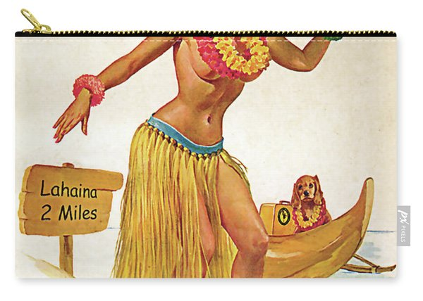 Hawaii, Hula Girl Welcomes You With Her Dog Carry-all Pouch