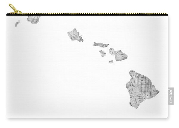 Hawaii Map Music Notes Carry-all Pouch
