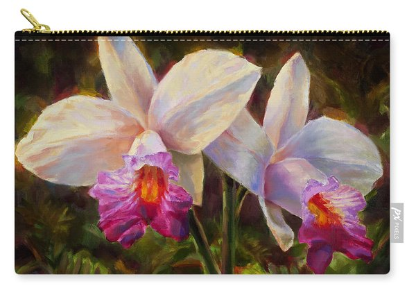 Hawaiian Bamboo Orchid Carry-all Pouch