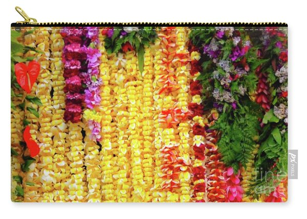 Hawaiian Flower Lei's Carry-all Pouch