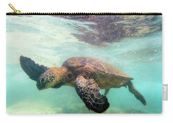 Hawaiian Green Sea Turtle Carry-all Pouch