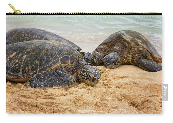 Hawaiian Green Sea Turtles 1 - Oahu Hawaii Carry-all Pouch