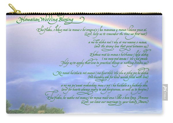 Hawaiian Language Wedding Blessing Carry-all Pouch