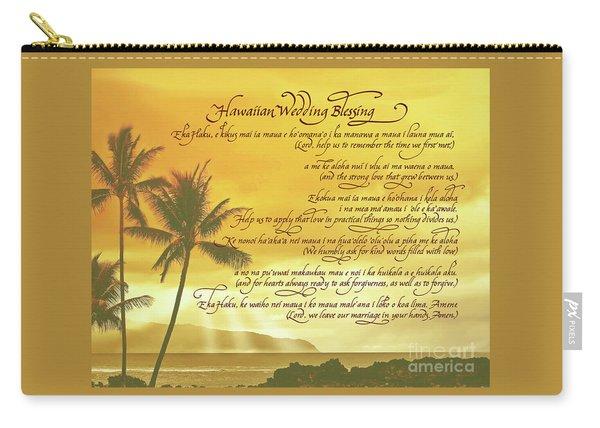 Hawaiian Wedding Blessing-sunset Carry-all Pouch