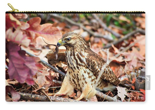Hawk Catches Prey Carry-all Pouch