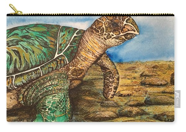 Hawkbilled Sea Turtle Carry-all Pouch