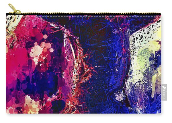Carry-all Pouch featuring the mixed media Hawkeye by Al Matra