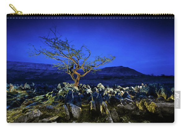 Hawthorn Tree In Boulder Field. Carry-all Pouch