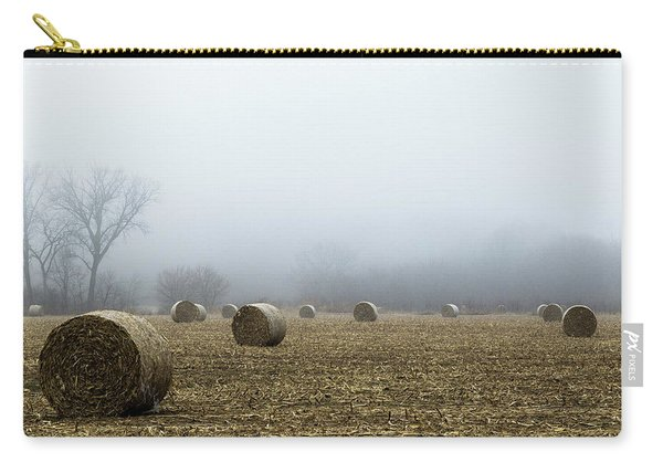 Hay Bales In A Field Carry-all Pouch