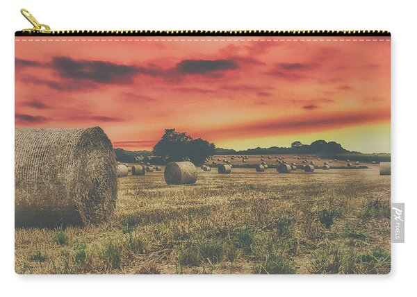 Hay Bales Sunset Carry-all Pouch