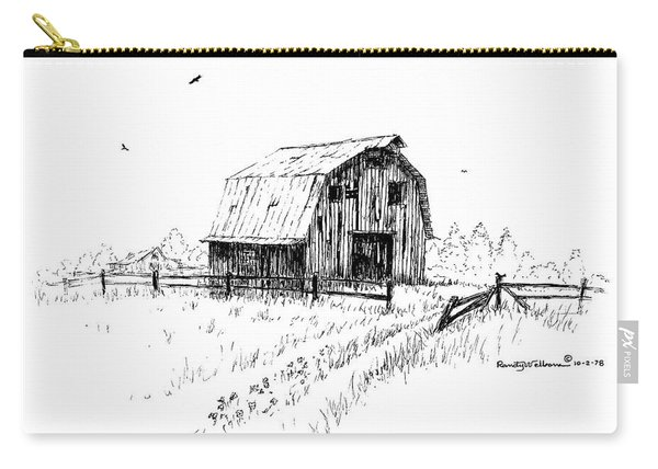 Hay Barn With Broken Gate Carry-all Pouch