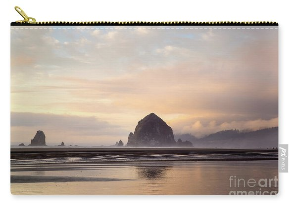 Haystack Rock After The Rain Carry-all Pouch