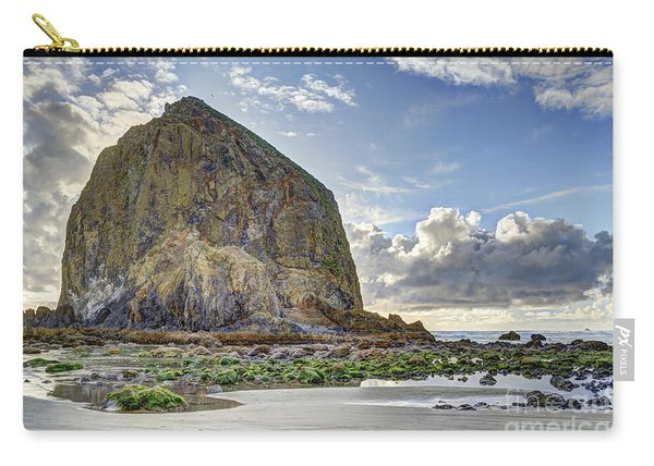 Haystack Rock At Low Tide Hdr Carry-all Pouch