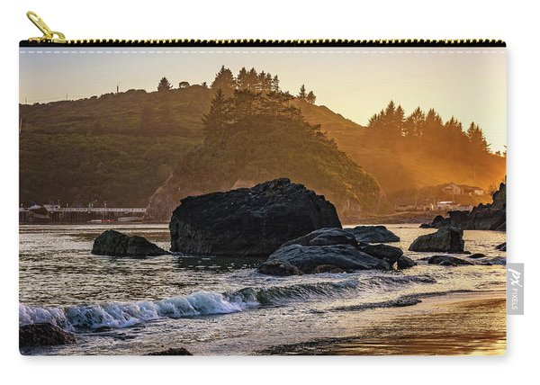 Hazy Golden Hour At Trinidad Harbor Carry-all Pouch
