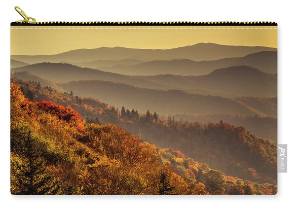 Hazy Sunny Layers In The Smoky Mountains Carry-all Pouch