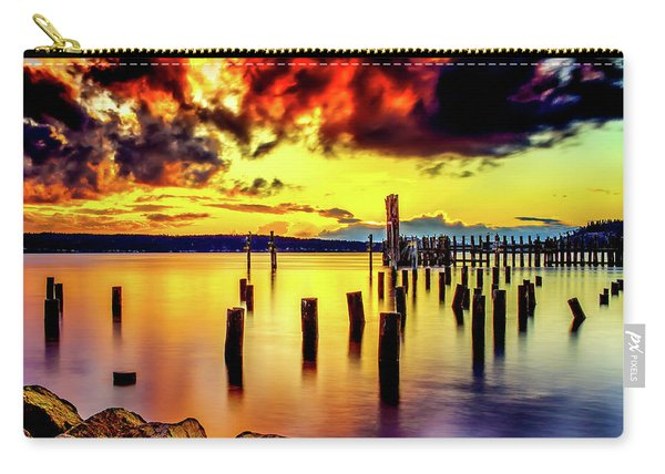 Hdr Vibrant Titlow Beach Sunset Carry-all Pouch