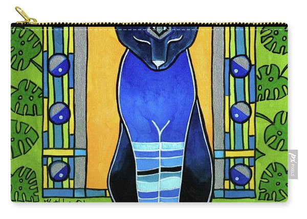 He Is Back - Blue Cat Art Carry-all Pouch