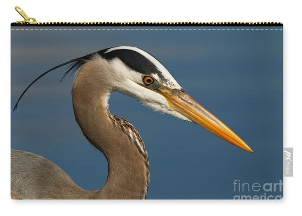 Head Of A Great Blue Heron Carry-all Pouch