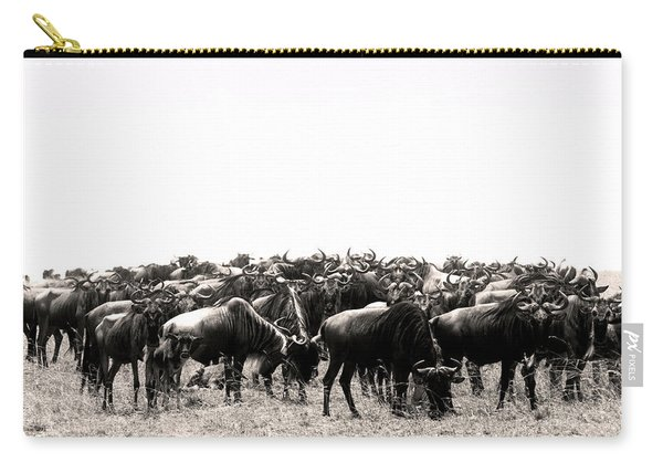 Herd Of Wildebeestes Carry-all Pouch