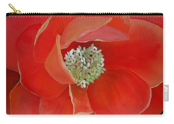 Heart-centered Rose Carry-all Pouch