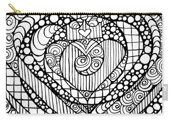 Heart Crown Tangle Carry-all Pouch