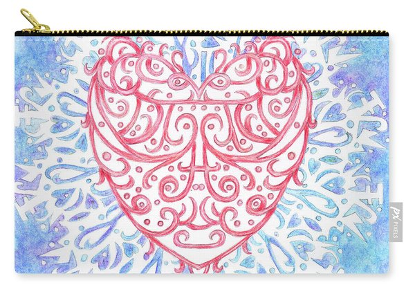 Heart In A Snowflake II Carry-all Pouch