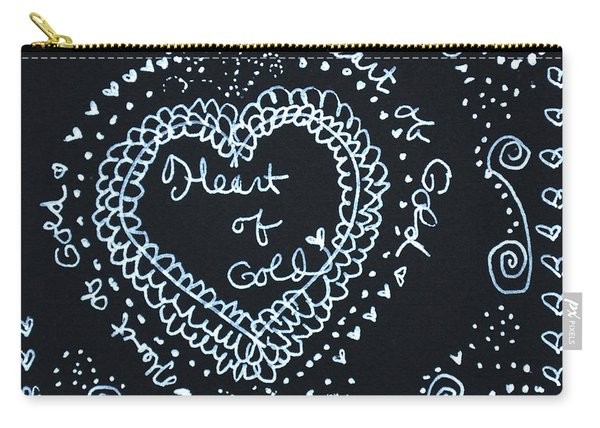 Heart Of Gold Carry-all Pouch