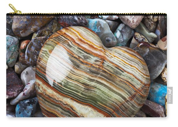 Heart Stone Carry-all Pouch