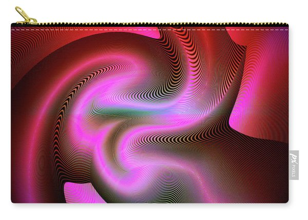 Carry-all Pouch featuring the digital art Heartbeats by Visual Artist Frank Bonilla